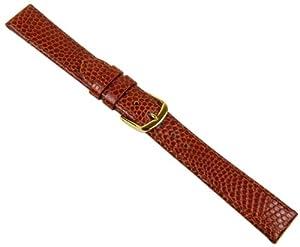 Herzog Eidechsprägung Correa de Reloj piel de becerrocuero Band Perlkupfer 20553G, Ancho de la pulsera: 18mm de Herzog