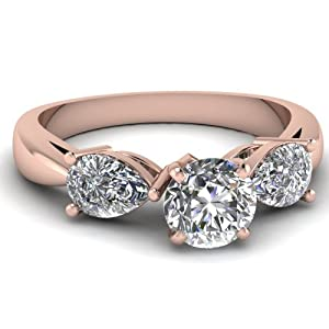 Stupendous Three Stone Engagement Ring 1.15 Ct Round Cut Shiny Diamond VS2 GIA Certificate # 1152888417