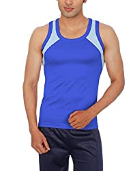 Sportee Men's Polyester Vest (Rtiv01Pp01B01_Blue_X-Large)