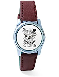 BigOwl Psychedelic Reality Painting Analog Men's Wrist Watch 2114874536-RS2-S-BRW