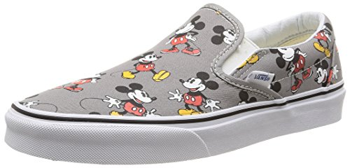 Vans U CLASSIC SLIP-ON DISNEY Sneaker, Unisex Adulto, Multicolore (Disney/Mickey Mouse/Frost Gray), 43