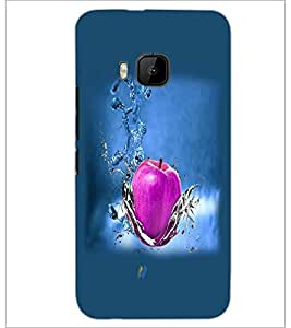PrintDhaba Apple D-4284 Back Case Cover for HTC ONE M9 (Multi-Coloured)
