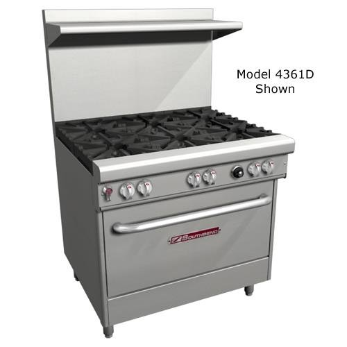 Southbend 4481Ee Ng - 48-In Range W/ 8-Non-Clog Burners, 2-Space Saver Ovens, Ng