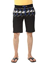 YOO Black color SHORTS for men