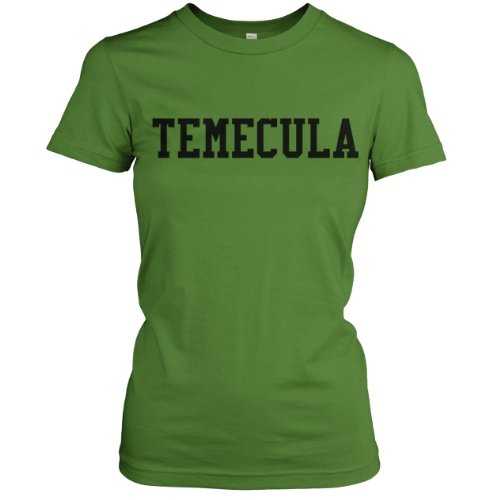Temecula Collegiate Ladies Fine Jersey T-Shirt (Black), Grass, L