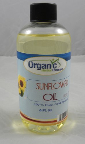Sunflower Oil - High Oleic - 100% Pure. Sunflower Is Capable of Blocking 20% of the Sun's UV Rays Helpful on Sprains, Bruises or Painful Inflamed Joints. Great as Massage Oil, Moisturizer