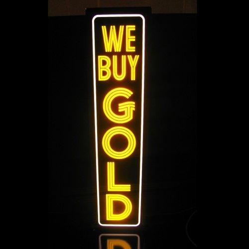 We Buy Gold Light Box Sign - Led/Neon Alternative Vv