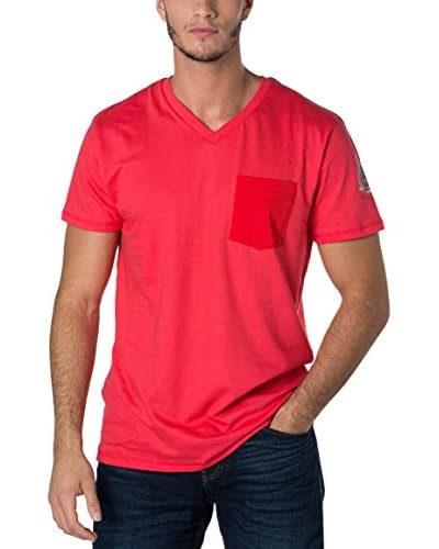 Geographical Norway T-Shirt Manica Corta Snht [Rosso]