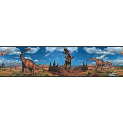 RoomMates RMK1042BCS Dinosaurs Peel & Stick Border
