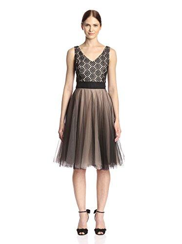 Nha Khanh Women's Rae V-Neck Layered Tulle Dress