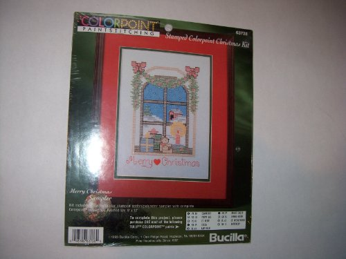 BUCILLA Colorpoint Paintstitching *Merry Christmas* Sampler Kit #63738