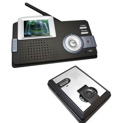 "Aleko® Lm160 2.4"" Display Intercom Wireless Video Door Phone System"