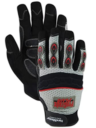Magid PGP40T ProGrade Plus Synthetic Leather Palm Glove with Neoprene Finger Guard, Work, Large (Case of 12)
