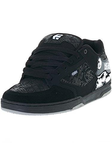 Etnies Men's Metal Mulisha Cartel Skateboarding Shoe, Black/Skulls, 11 M US