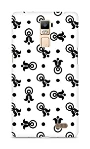 Amez designer printed 3d premium high quality back case cover for Oppo R7 Plus (Black n White Pattern9)