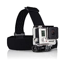 GoPro Head Strap by ProGearX, Head Strap Mount for GoPro® HERO, PGXHSK01, Adjustable GoPro HERO head strap (Black), for all GoPro HERO HD Cameras, Customizable Size for Head or Helmet, Adjustable Thumbscrew for Camera Angle