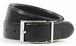 Polo by Ralph Lauren Black & Brown Leather Reversible Belt (36)