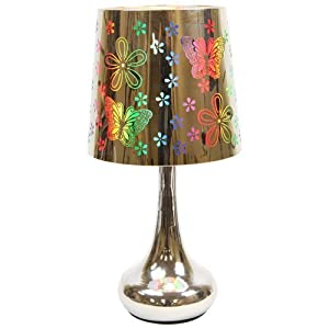 Electric Metal Butterfly Oil and Tart Warmer Lamp with Dimmer