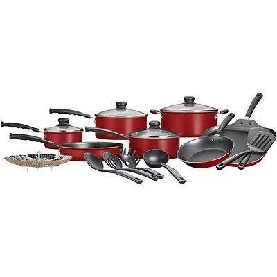 Nonstick Pots & Pans 18 Piece Cookware Set Kitchen Kitchenware Cooking NEW (4 1 2 Quart Stock Pot compare prices)