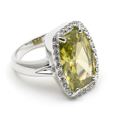 Green Crystal Ring (Large)