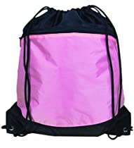 Bags for LessTM Sports Drawstring Backpack Tote Bag Black/Pink