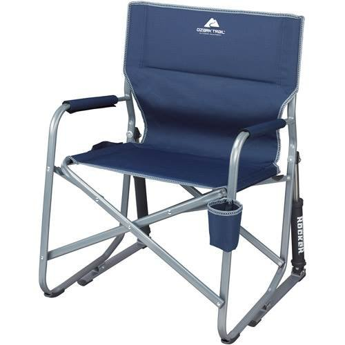 Ozark Trail Portable Rocking Chair (Midnight Blue) front-649441