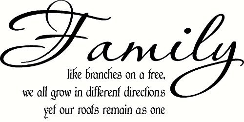 Family, Like Branches on a Tree, We All Grow in Different Directions, Yet Our Roots Remain As One Vinyl Wall Art (One Direction Alive compare prices)