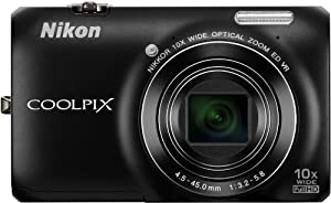 Nikon COOLPIX S6300 Compact Digital Camera - Black (16MP, 10x Optical Zoom) 2.7 inch LCD