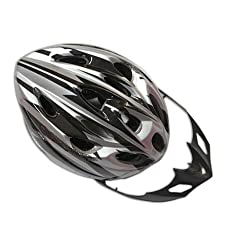 Bicycle Helmet Black with Silver by Crazy Cart