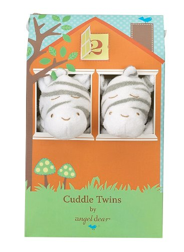 Angel Dear Cuddle Twin Set, Grey Zebra