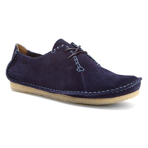 Clarks Womens Faraway Field Shoe Navy Suede Size 8.5