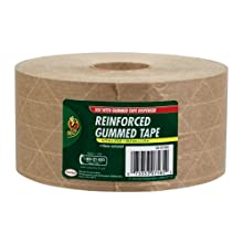 Duck Brand HD Reinforced Gummed Kraft Paper Tape, 2.75 Inches x 375 Feet (964913)