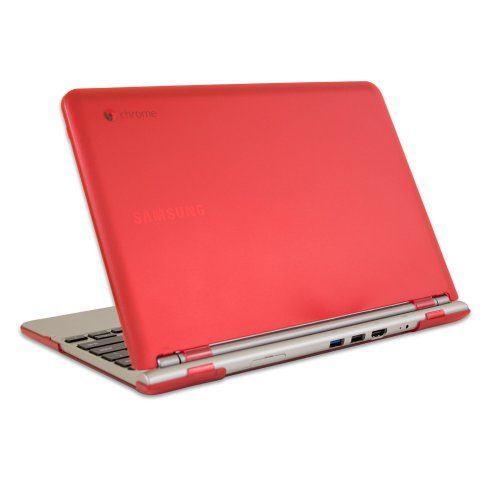 iPearl mCover Complex Shell Case for 11.6 Samsung Chromebook (Wi-Fi or 3G) laptop - Red