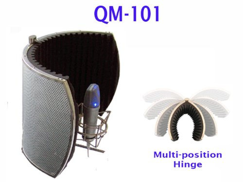 Q-Mic Qm-101 Ultimate Stereo Reflexion Filter / Vocal Booth
