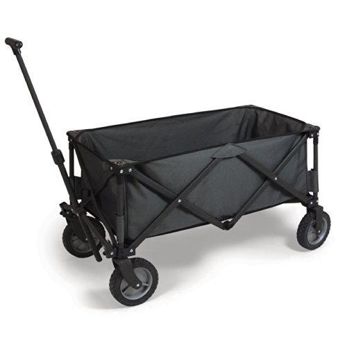 Picnic-Time-Collapsible-Adventure-Wagon-Dark-Grey