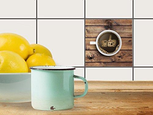 fliesenfolie selbstklebend 10x10 cm 1x1 design sweet coffee essen trinken klebefolie k che bad. Black Bedroom Furniture Sets. Home Design Ideas