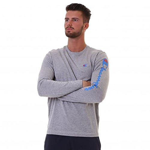 champion-m-t-shirt-m-l-auth-cottjersey-gris-m