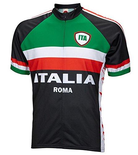 Italy Italia Roma Cycling Jersey by World Jerseys Men's 3XL Short Sleeve (Cycling Italia compare prices)