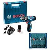Bosch 06019F30K2 GSB-1080 Li Cordless Drill (Blue)