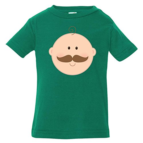 Inktastic Baby Boys' Funny Mustache Baby Boy Baby T-Shirt 6 Months Kelly Green
