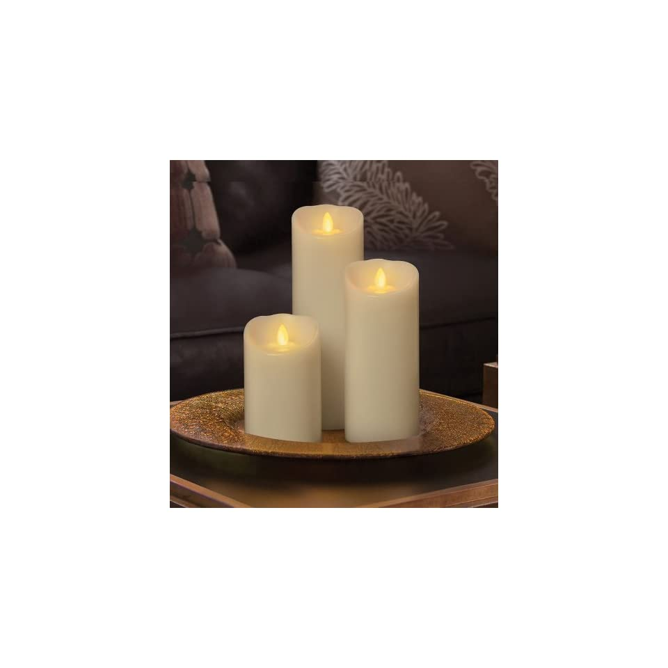 Batteriebetriebene Kerzen Mit Beweglicher Flamme.Flammenlose Led Echtwachskerze Mit Flackernder Flamme