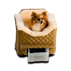Snoozer Lookout II Pet Car Seat, Medium, Khaki