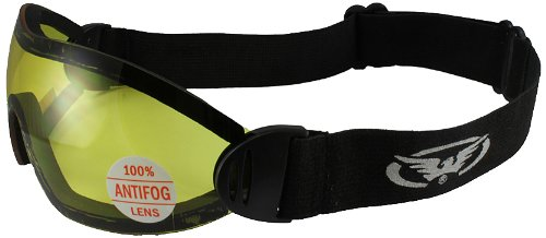 Global Vision Eyewear Global Vision Flare Riding Goggles (Black Frame/Yellow Lens)