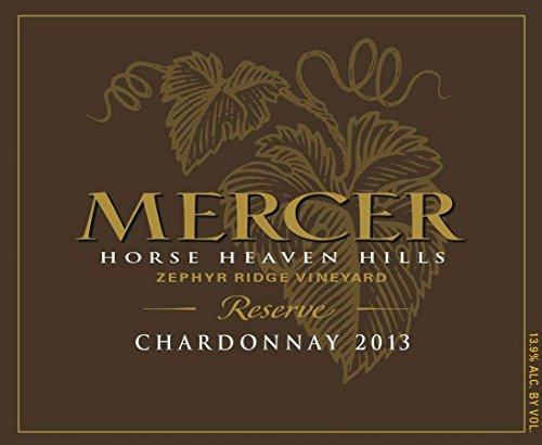 2013 Mercer Estates Zephyr Ridge Vineyard Reserve Chardonnay 750 Ml