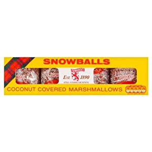 TUNNOCK'S Snowballs - Coconut Covered Marshmallows 4 Pack 120g (4.2 oz)