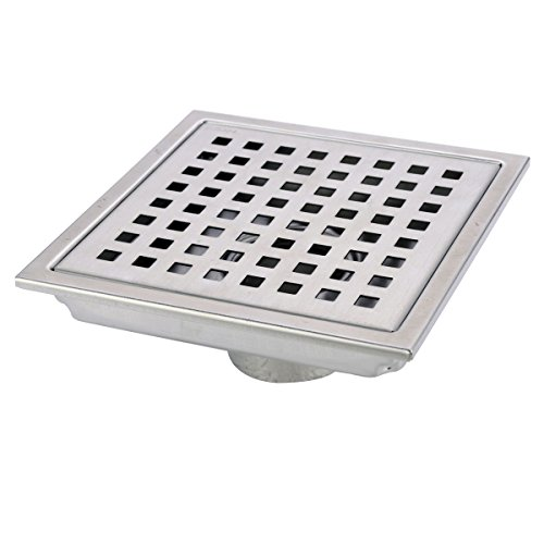 HANEBATH 6 Inch Square Shower Floor Drain with Removal Grate - Made of Sus304 Stainless Steel (Low Profile Pipe Wrench compare prices)