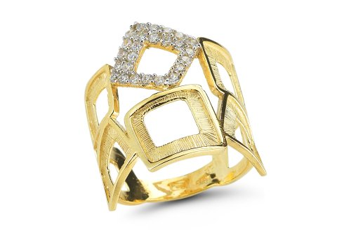 I. Reiss 14K Gold Ring, Accented with Diamonds.