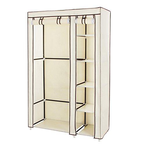 songmics-clothes-closet-portable-wardrobe-storage-organizer-with-shelves-beige-43-ulsf007m