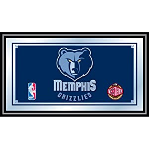 NBA Memphis Grizzlies Logo Framed Mirror by Trademark Global