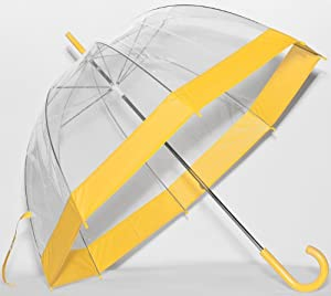 Yellow Trim Bubble Umbrella from Frankford Umbrellas